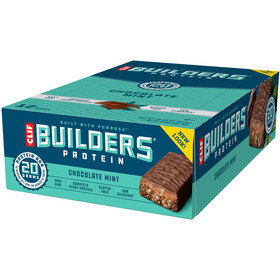 CLIF Bar Builder's Boîte Barres protéinées 12x68g, Chocolate Mint